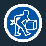 PPE Icon.Lift Correctly Symbol Sign On black Background On black Background,Vector llustration vector illustration