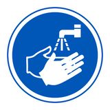 PPE Icon.Wash Your Hand Symbol Isolate On White Background,Vector Illustration EPS.10
