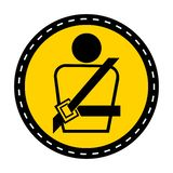 PPE Icon.Wearing a seat belt Symbol Sign Isolate On White Background,Vector Illustration. Car, safety, vehicle, transport, road, security, driver, fasten stock illustration