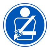 PPE Icon.Wearing a seat belt Symbol Sign Isolate On White Background,Vector Illustration EPS.10. Car, safety, vehicle, transport, road, security, driver vector illustration