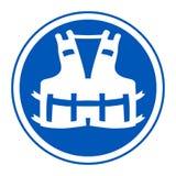 PPE pictogram Dragend een reddingsvest voor het Teken van het veiligheidssymbool isoleer op Witte Achtergrond, Vectorillustratie  vector illustratie