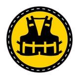 PPE pictogram Dragend een reddingsvest voor het Teken van het veiligheidssymbool isoleer op Witte Achtergrond, Vectorillustratie stock illustratie