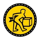 PPE pictogram Het Teken van het lift correct Symbool isoleert op Witte Achtergrond, Vectorillustratie royalty-vrije illustratie