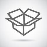 Öppen ask för symbol Arkivbild