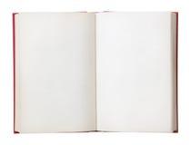 öppen blank bok Arkivbilder