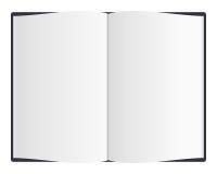 öppen blank bok Fotografering för Bildbyråer