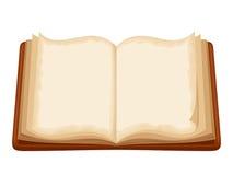 öppen bok också vektor för coreldrawillustration Arkivbilder