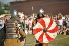 Öppen-lufta legender av norska Vikings Arkivbilder
