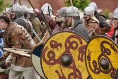Öppen-lufta legender av norska Vikings Arkivbild