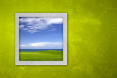 öppet fönster Royaltyfria Foton