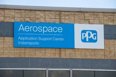 PPG Aerospace Application Support Center. PPG Aerospace is a key global supplier of Coatings products IV. Indianapolis - Circa May 2019: PPG Aerospace stock images