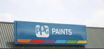 PPG Paints Sign Royalty Free Stock Photos