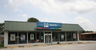 PPG Paints Store Front Royalty Free Stock Photo