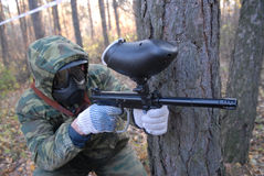 Pplayer in paintball. Stock Photography