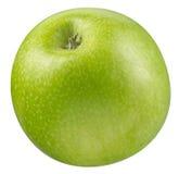 äpple - green isolerad white Arkivbilder