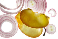 Аpple and onion slices Royalty Free Stock Photography