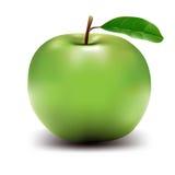 äpple tecknad grön hög res-vektor Fotografering för Bildbyråer