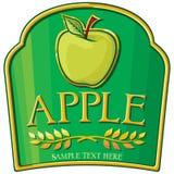 äppleetikett Arkivbild