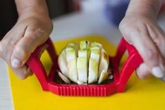 Äpplen bearbetar Royaltyfri Fotografi