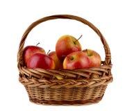 äpplen i korgen Arkivfoto