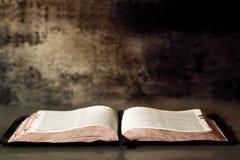 Öppna bibeln Arkivbilder