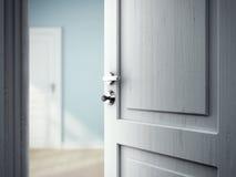 Öppnad dörr Arkivbild
