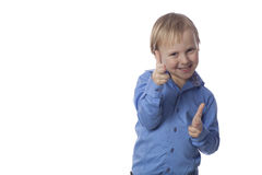 Positive smiling boy Royalty Free Stock Photos