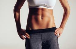 Półpostać żeński sprawność fizyczna model Zdjęcie Stock