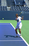 PProfessional tennis player Richard Gasquet practices for US Open 2013 at Grandstand Stadium Stock Image