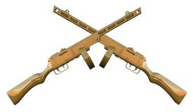 PPSh-41 machinepistool Stock Foto's