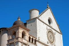 Päpstliche Basilika des Heiligen Franziskus von Assisi Stockbilder