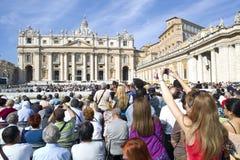 Päpstliches Publikum Stockfoto