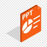 PPT file extension isometric icon Royalty Free Stock Photos