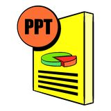 PPT file icon cartoon. PPT file icon in cartoon style isolated vector illustration Stock Photos