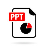 Ppt presentation file vector icon. Isolated on white background Royalty Free Stock Photography