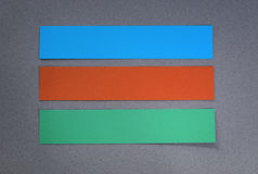 Pptions纸横幅模板 免版税库存图片