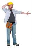 Ppuzzled-Arbeitskraft Lizenzfreies Stockfoto