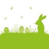 Pâques, silhouette, pré Photo stock