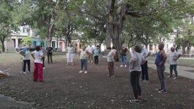 Práctica de la mañana en La Habana, Cuba
