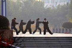 Práctica de la mañana tailandesa en China Fotos de archivo libres de regalías