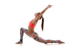Práctica de la yoga imagen de archivo