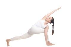 Práctica de la yogui Imágenes de archivo libres de regalías