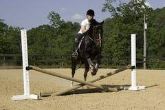 Práctica de salto Fotografía de archivo
