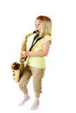 Práctica de Saxophone imágenes de archivo libres de regalías