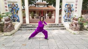 Práctica de Tai Chi Fotos de archivo libres de regalías