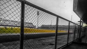 Práctica de tierra del béisbol foto de archivo