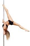 Práctica del bailarín de poste Imagen de archivo libre de regalías