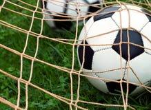 Práctica del fútbol Imágenes de archivo libres de regalías