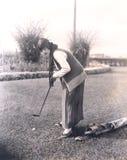 Práctica del golf imagenes de archivo