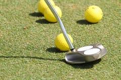 Práctica del golf Foto de archivo libre de regalías